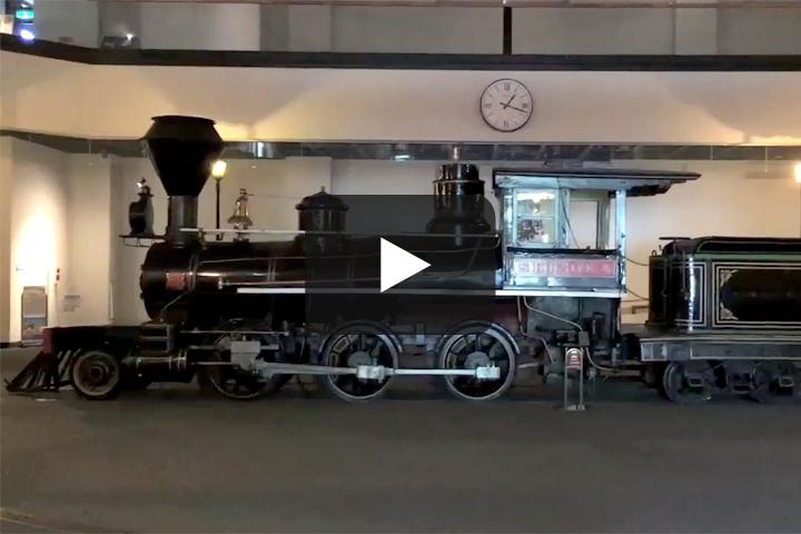 【小樽編】小樽市総合博物館でSL「しづか号」を見る