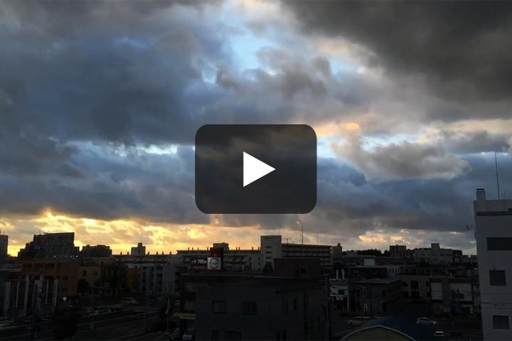 札幌北区の夕暮れ